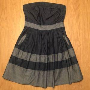 Strapless Monteau dress.